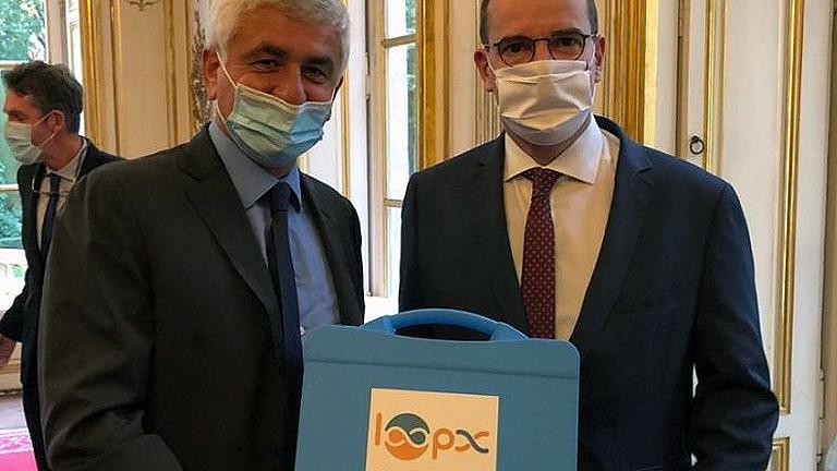 O Presidente do Région Normandie Sr. Hervé Morin apresentou ontem as soluções de análise rápida da Loop Dee Science ao primeiro-ministro M. Jean Castex